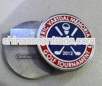 Epola with silk screen metal customized magnetic golf ball markers