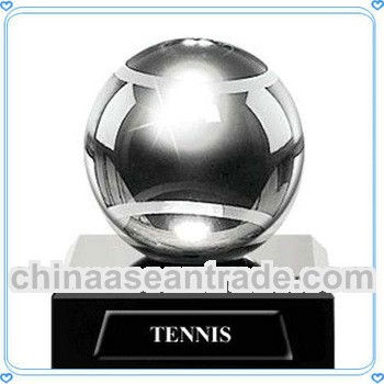 Excellent Engraved Crystal Tennis Trophy for Sports Honor Awards