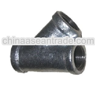 GI pipe fitting 45 degree Lateral Tee