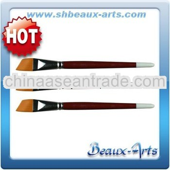 Golden Taklon Angular Artistic Brushes/Shore, Red Lacquered Handle With White Tip Watercolor Brush