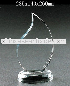 Grade A crystal blank block with engraved for crystal trophy and award (R-0380)