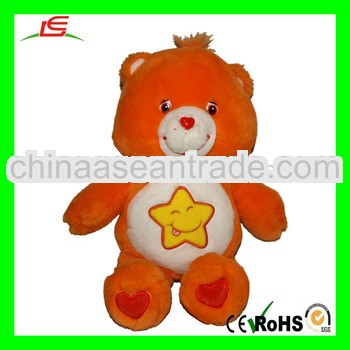 LE-D592 Orange Care Bears Laugh-a-lot Teddy Bear Plush Toy