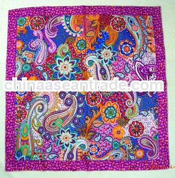 Latest fashion silk twill square head scarf new designer bandanas