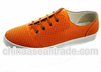 Leather cheap sneakers CP807-OR