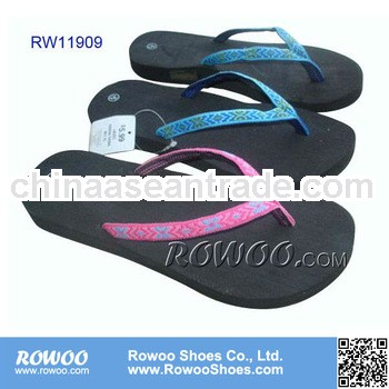 RW11909 Ladies plain webbing slippers