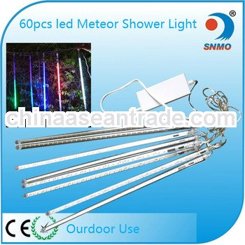 Romantic mini meteor shower tube light set wedding decoration led light