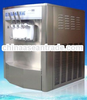 Stainless steel soft cream machine with CE