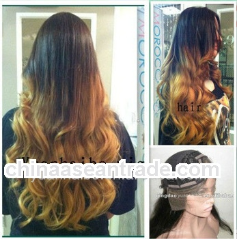 "Wholesale Price U Shape 20"" #1B#144 Ombre Two Tone, Loose Wave, brazilian virgin hair u part wi"