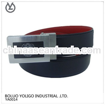 automatic steel buckle leather belt cargo lashing belt