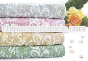 bamboo fabric jacquard weave towel blanket