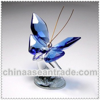 blue crystal butterfly crafts for wedding anniversary gift