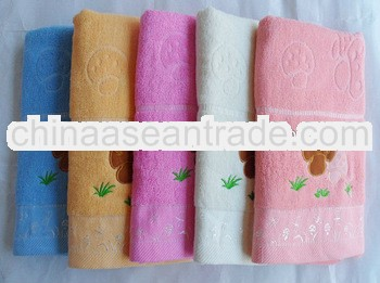 bright colored baby bath towel weaving with 32/2s