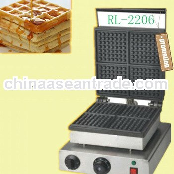 high quality easy cleaing easy operation with CE waffle machine manufactures