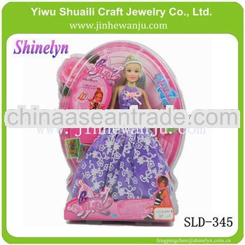 hot selling princess doll promotional gift dream 2013 new design with single gift box packaging diff