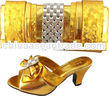 hotselling high quality italian woman matching shoes and bags with stones