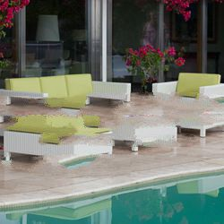 sofa set poly rattan