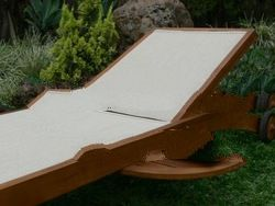 Teak garden and Outdoor furniture: Sun Lounger with Batylene
