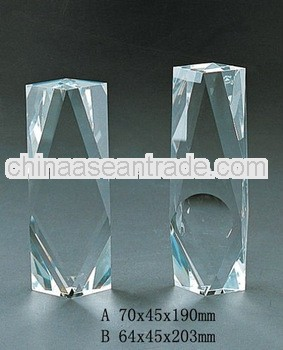 pure crystal cylinder blank paperweight with engraved for crystal trophy and award (R-0289)