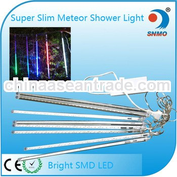 snowfall meteor tube set 50m outdoor led christmas light decorations